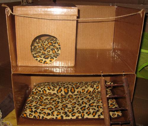 Как сделать из коробки домик для морской свинки